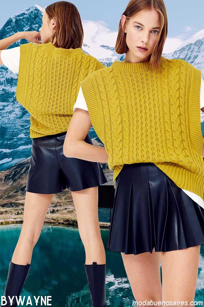 Minifaldas invierno 2021 moda mujer