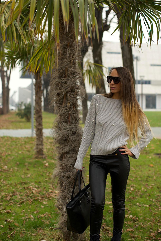 come indossare maglione con perle