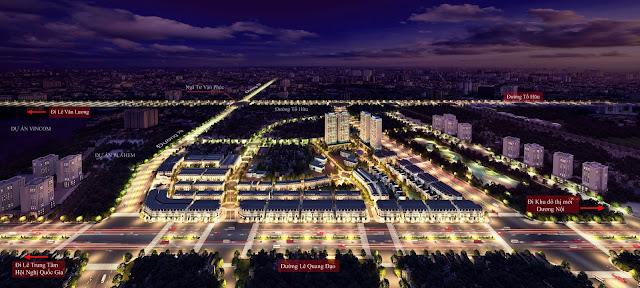 Tổng thể dự án đô thị Louis City Đại Mỗ.