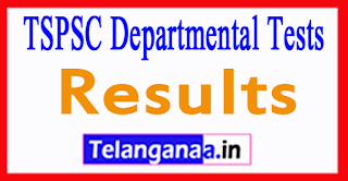 TSPSC Departmental Test Results