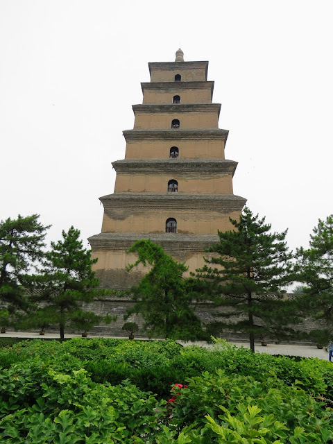 Giant Wild Goose Pagoda in Xi'an China