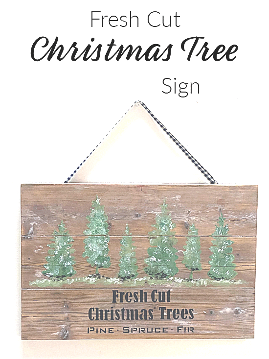 Pinterest pin Christmas sign