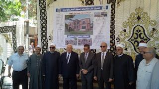 بتمويل كويتي وضع حجر الأساس لدار مناسبات مسجد البحر بدمياط.