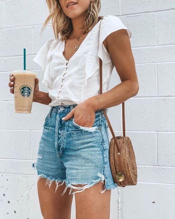 looks com shortinho jeans