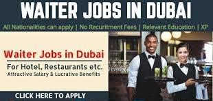 Waiter and Waitress Job Recruitment in Dubai for Hotel and Restaurants Company