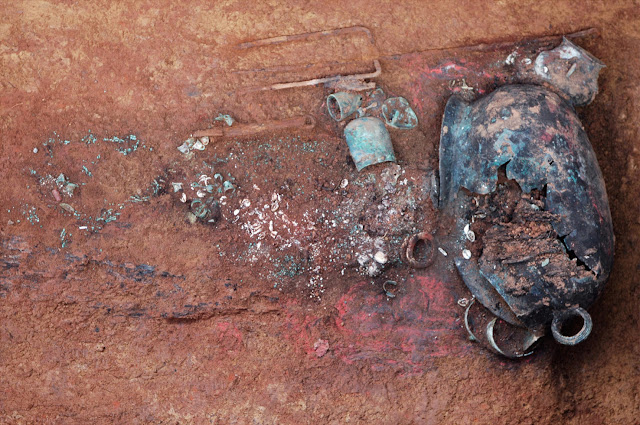 25 ancient tombs with encased skulls found in China's Guizhou