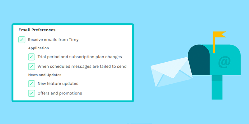 Timy Slack Email Preferences