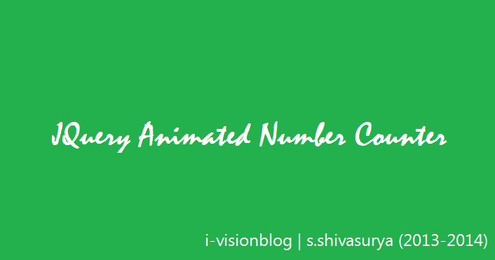 jQuery Animated Number Counter From Zero To Value - Javascript