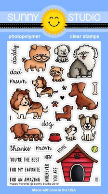 Sunny Studio Stamps: Introducing Puppy Parents 4x6 Photopolymer Clear Dog Stamps