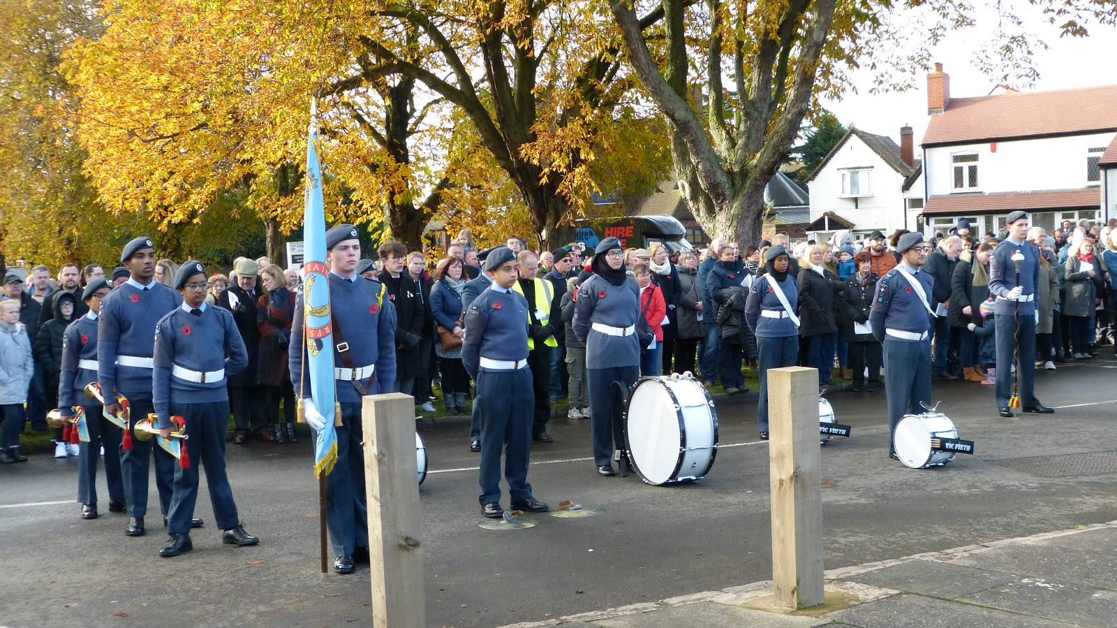 Banners and Air Cadets band