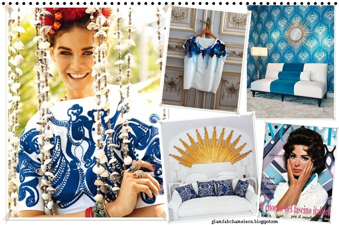refreshing blue and white prints