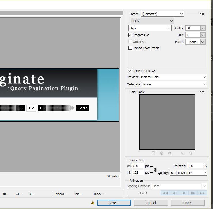 Tối ưu hóa hình ảnh cho PageSpeed Insights bằng Photoshop