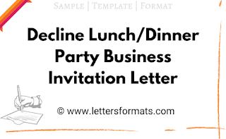 decline business lunch invitation sample