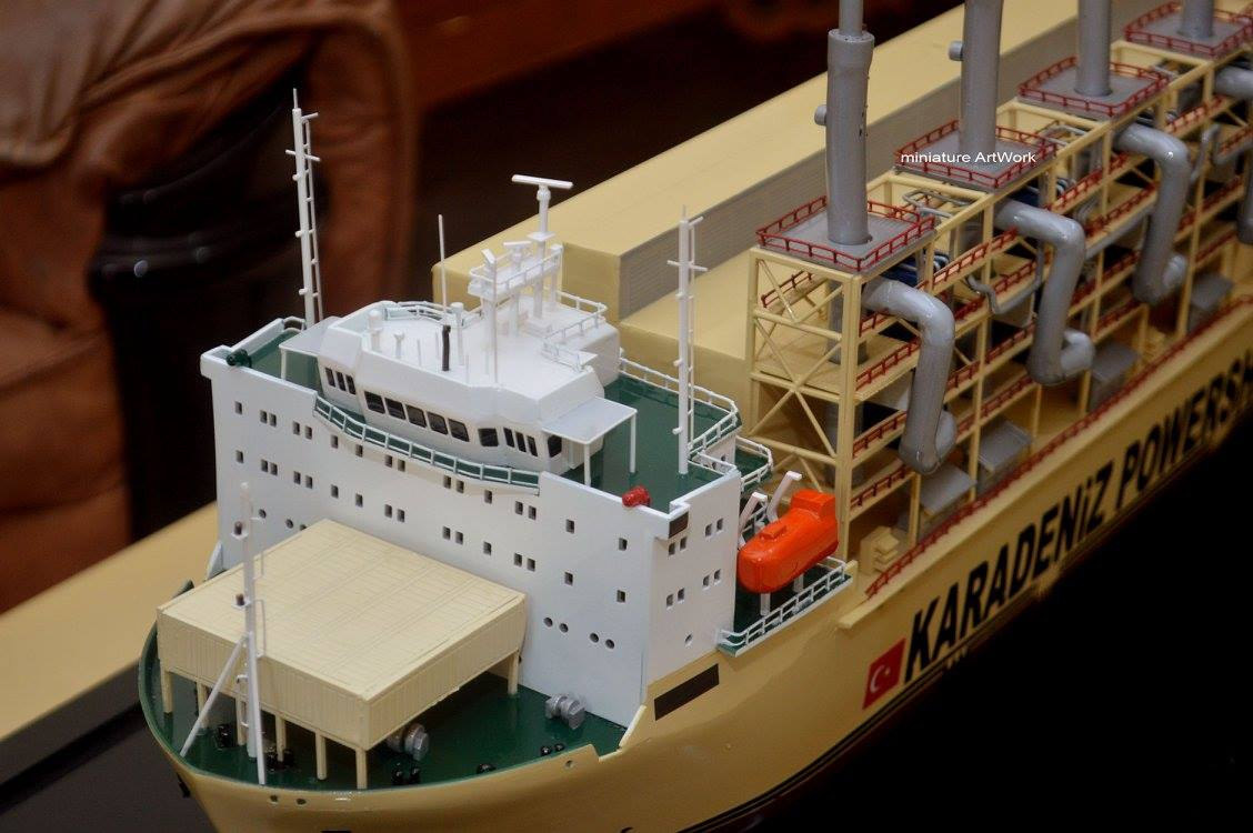 foto gambar miniatur kapal karadeniz kar powership zeynep sultan power station vessel terbaru