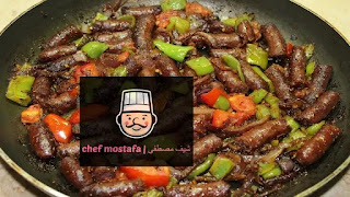 Oriental sausage with sauce