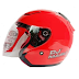 KYT DJ Maru Fire Red Solid Metalic - RP 270,000