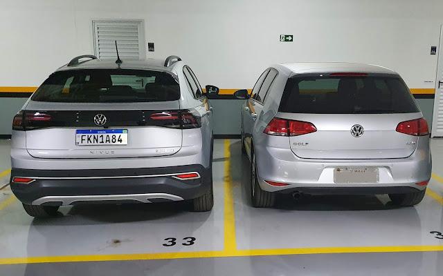 Volkswagen Nivus Comfortline x VW Golf Comfortline (Mk7)