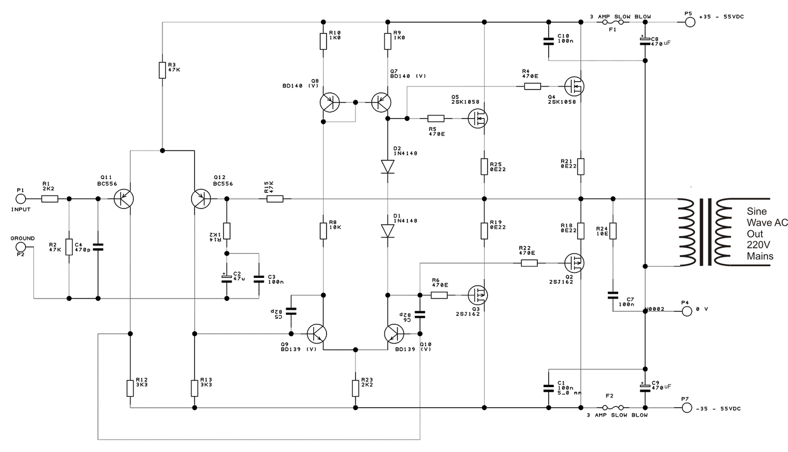 dc to ac inverter schematic diagram african elephant food chain h bridge free engine image