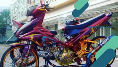 modifikasi motor  jupiter mx yamaha