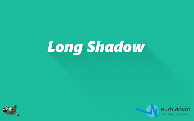 Cara Membuat Effect Long Shadow di Gimp