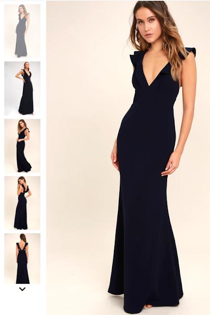 Lulus Lovely Navy Dress
