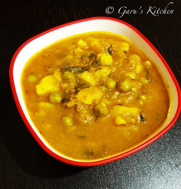 Dhaba Style Aloo Matar Curry Masala