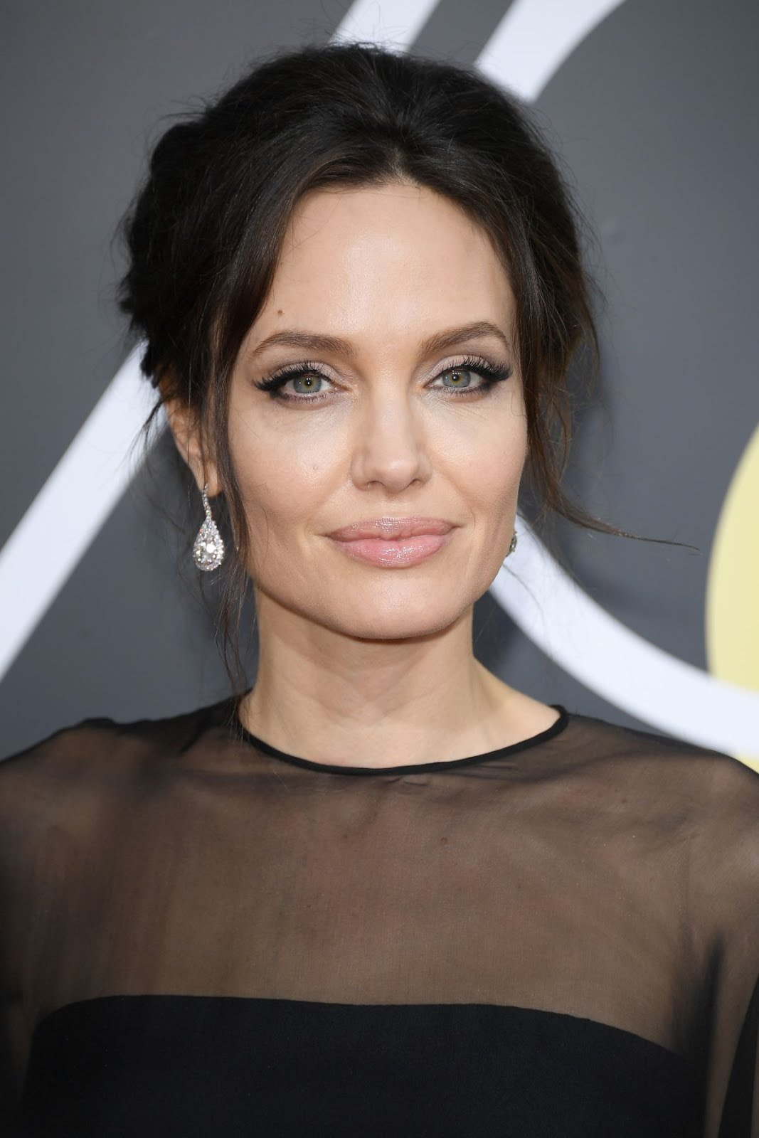HD Photos of HOT & Sexy Angelina Jolie At 75Th Annual Golden Globe Awards In Beverly Hills