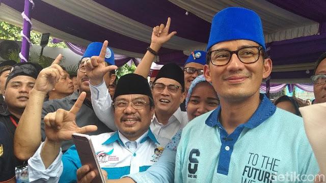 Sandi Resmikan Rumah Pemenangan, Warga Pekikan 'Prabowo Presiden'
