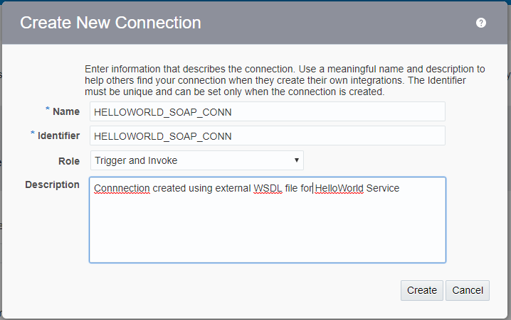 SOA Enthusiast: Create SOAP Connection in Oracle Integration