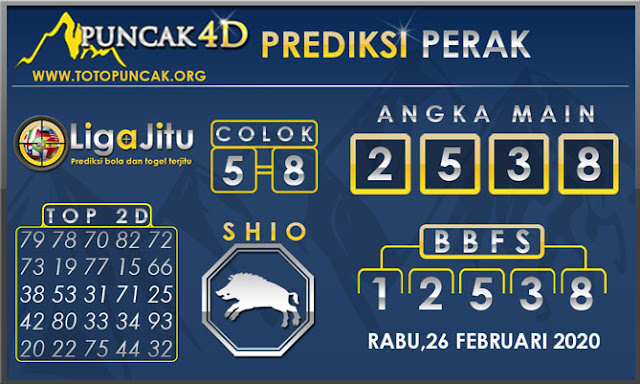 PREDIKSI TOGEL PERAK PUNCAK4D 26 FEBRUARI 2020