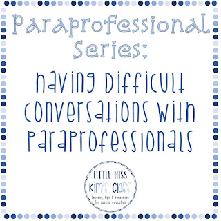 Special Education: Working with Paraprofessionals