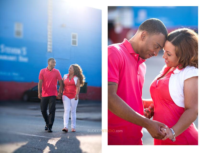 Detroit Engagement photo ideas - Sudeep Studio.com