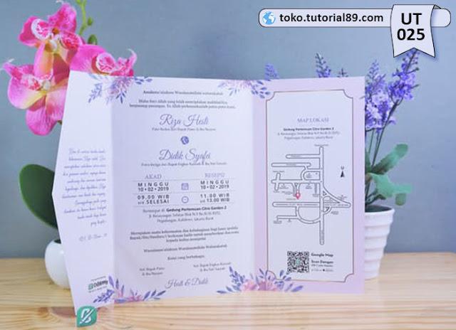 Undangan pernikahan UT025 - Semi Amplop +free kartu ucapan terima kasih