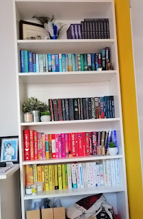 #shelfie #bookshelf #bookrainbow N J Simmonds' Debut Author Spotlight #NewBook #20Questions at Operation Awesome