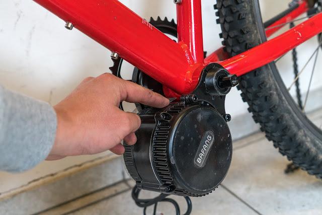 E-Bike-Umbau So baust du dir dein eigenes E-Bike mit Mittelmotor  DIY E-MTB Anleitung zum E-Bike Umbau mit Bafang BBS01 Mittelmotor E-Bike selber bauen aus altem Mountainbike 16