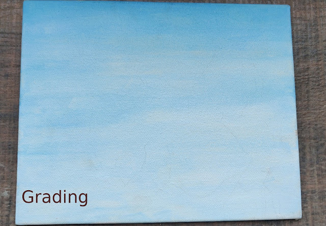 Sky Painted on canvas with grading effect