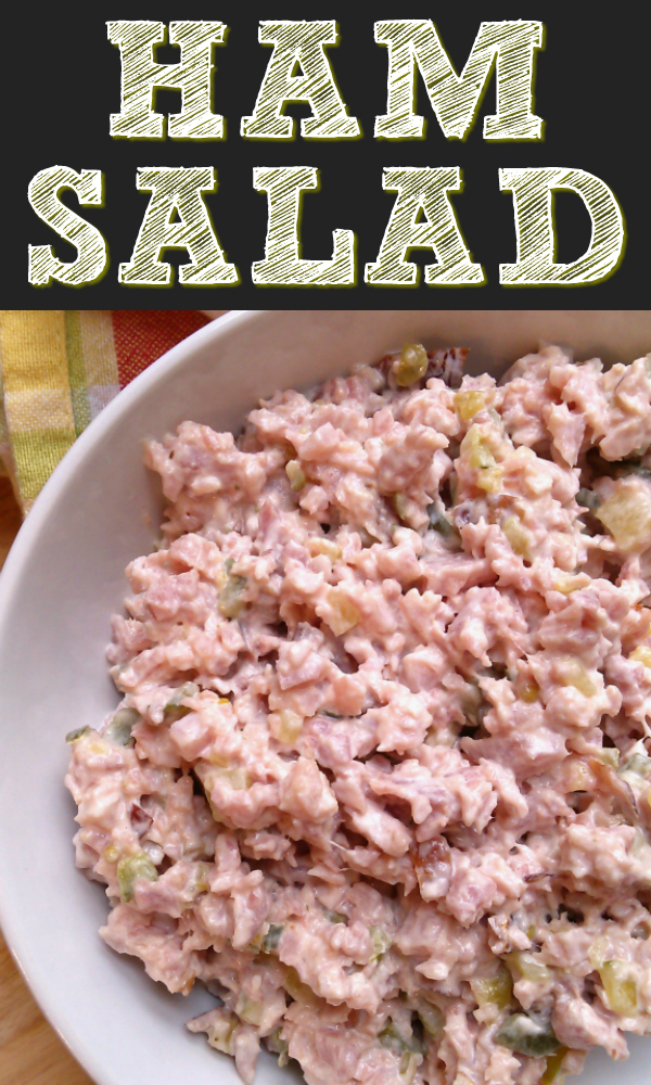 Also called Deviled Ham Salad or Pickle Wrap Spread/Dip, this recipe is made with ground or chopped ham with sweet pickle relish and mayo and is amazing on sandwiches or crackers.