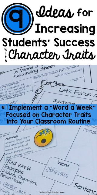Ideas and Activities for teaching character traits and describing characters