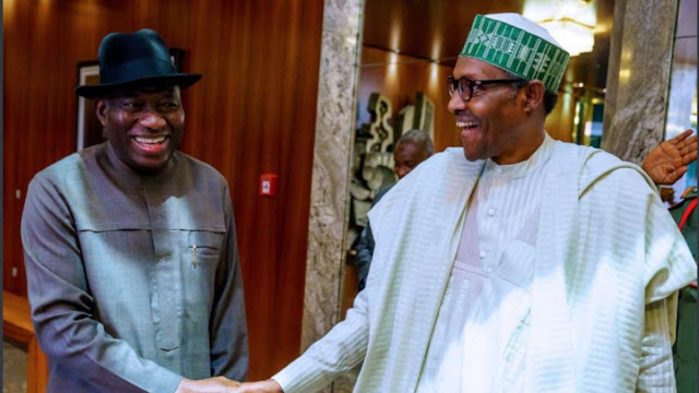 Jonathan meets Buhari in Aso Rock