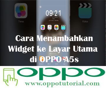 Cara Menambahkan Widget ke Layar Utama di OPPO A5s