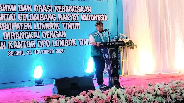 Orasi kebangsaan di Lotim, Ketum Partai Gelora serukan 3 tugas penting