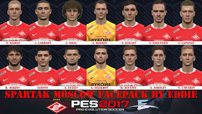 PES 2017 Facepack Spartak Moscow by Eddie
