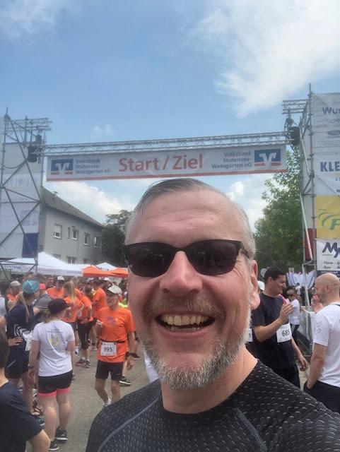 Ich im Startbereich des Lebenslaufs 2019 in Weingarten