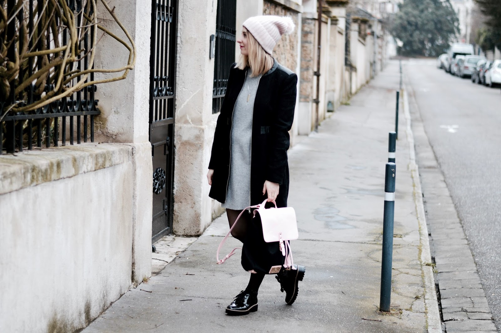 Look femme hiver : robe pull grise Princesse Tam Tam