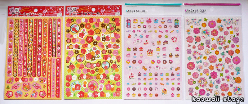 stickers japansese sweets flowers