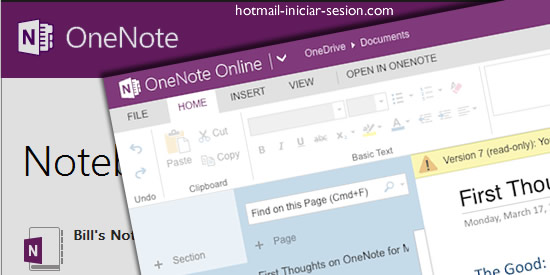 onenote en outlook iniciar sesion