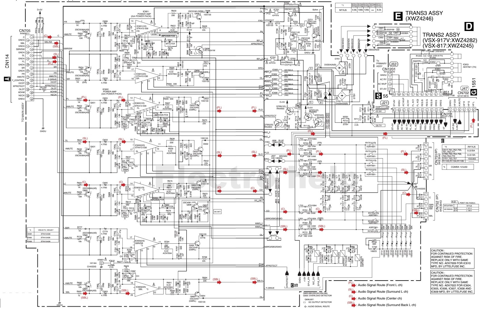 [WRG-4272] 2000w Power Amplifier Circuit Diagrams