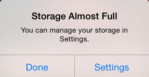 iOS 12 iPhone storage almost full message when it's not [Fixed]