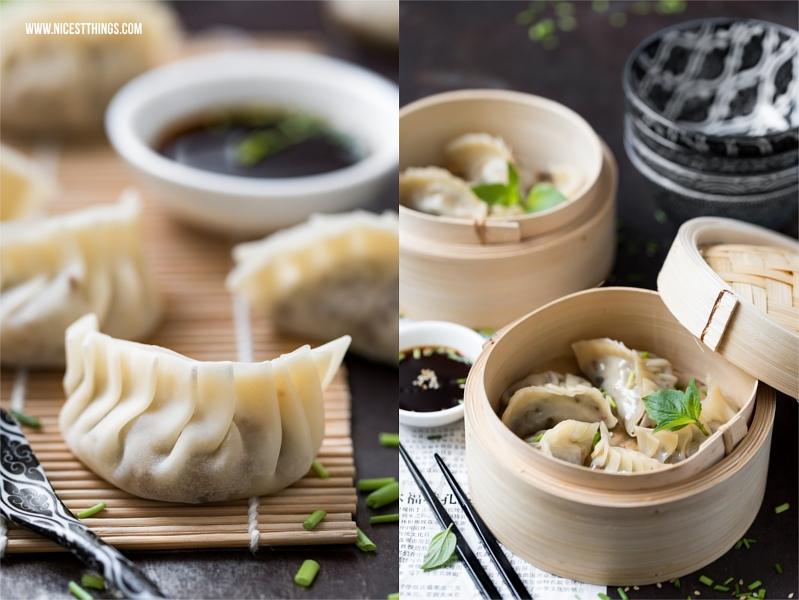 Rezept asiatische Teigtaschen mit Hack Gyoza Jiaozi Dim Sum