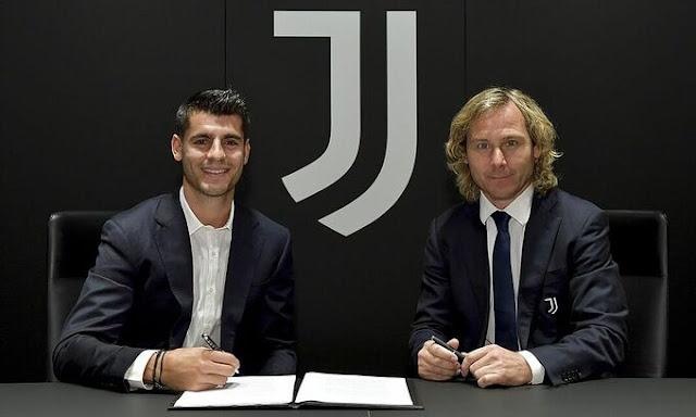 Morata gia nhập Juventus